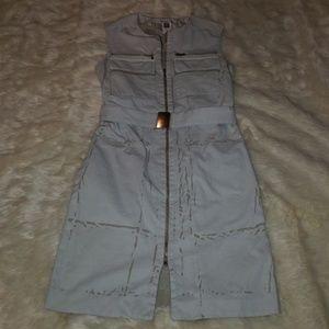 Pollini zip dress size 6